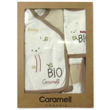 Набор 5 в 1 из органического хлопка для новорожденного Caramell  оптом (код товара: 3148)
