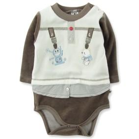 Велюровый боди для мальчика Caramell (код товара: 3614): купить в Berni