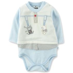 Велюровый боди для мальчика Caramell (код товара: 3616): купить в Berni