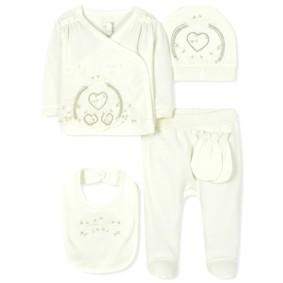 Комплект 5 в 1 для новорожденной девочки оптом (код товара: 36663): купить в Berni