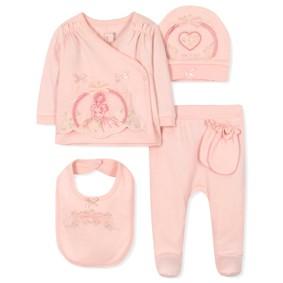 Комплект 5 в 1 для новорожденной девочки (код товара: 36667): купить в Berni