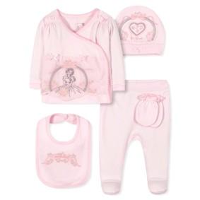 Комплект 5 в 1 для новорожденной девочки оптом (код товара: 36668): купить в Berni
