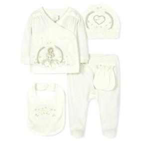 Комплект 5 в 1 для новорожденной девочки оптом (код товара: 36670): купить в Berni
