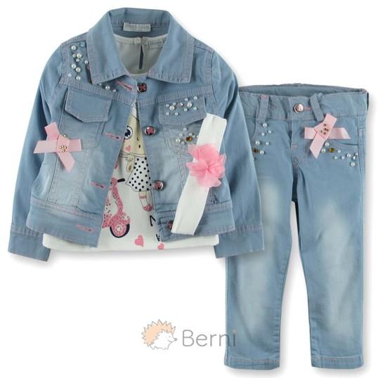 Джинсовый Костюм для девочки Baby Rose (код товара  3711) - купить ... 7f4a444c2f563