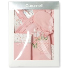 Набор 5 в 1 для новорожденной девочки Caramell оптом (код товара: 3938)