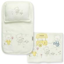 Набор постельного белья 3 в 1 для новорожденного Bebitof  (код товара: 3995)