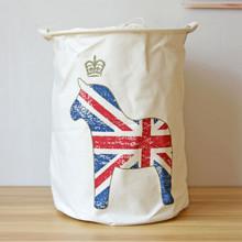 Корзина для игрушек, белья, хранения на завязках Британская лошадка (код товара: 39680)