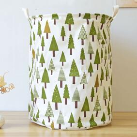 Корзина для игрушек, белья, хранения на завязках Зеленый лес (код товара: 39672): купить в Berni