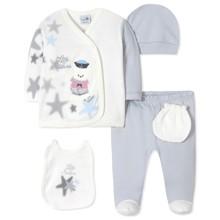 Комплект 5 в 1 для новонародженого хлопчика оптом (код товара: 40666)