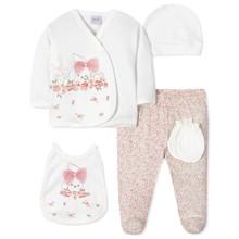 Комплект 5 в 1 для новонародженої дівчинки оптом (код товара: 40654)