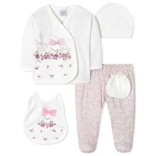 Комплект 5 в 1 для новонародженої дівчинки оптом (код товара: 40655)