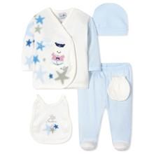 Комплект 5 в 1 для новорожденного мальчика оптом (код товара: 40667)