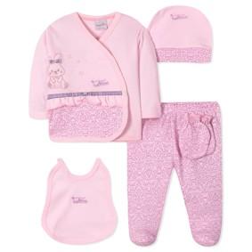 Комплект 5 в 1 для новорожденной девочки (код товара: 40652): купить в Berni