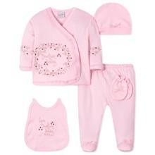 Комплект 5 в 1 для новорожденной девочки оптом (код товара: 40656)