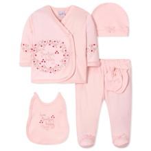 Комплект 5 в 1 для новорожденной девочки оптом (код товара: 40657)