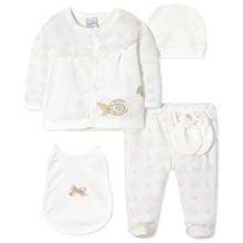 Комплект 5 в 1 для новорожденной девочки оптом (код товара: 40659)