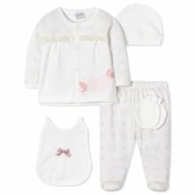 Комплект 5 в 1 для новорожденной девочки оптом (код товара: 40660)