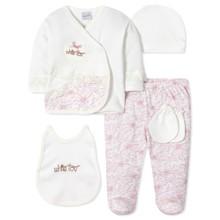 Комплект 5 в 1 для новорожденной девочки оптом (код товара: 40663)