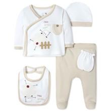 Комплект 5 в 1 для новонародженого з органічної бавовни оптом (код товара: 41626)