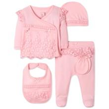 Комплект 5 в 1 для новонародженої дівчинки оптом (код товара: 41625)