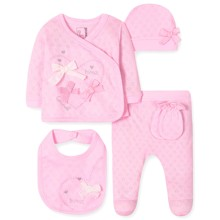 Комплект 5 в 1 для новонародженої дівчинки оптом (код товара: 41683)
