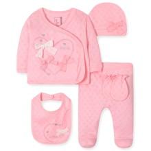 Комплект 5 в 1 для новонародженої дівчинки оптом (код товара: 41684)