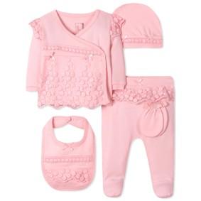 Комплект 5 в 1 для новорожденной девочки оптом (код товара: 41625): купить в Berni