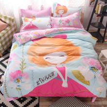 Комплект постельного белья Милая Девочка (полуторный) (код товара: 43495)