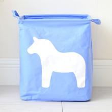 Корзина для игрушек, белья, хранения Лошадь, голубой (код товара: 43478)