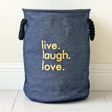 Корзина для игрушек, белья, хранения Любовь, синий (код товара: 43457)