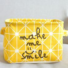 Корзина для игрушек, белья, хранения Улыбка, желтый (код товара: 43459)