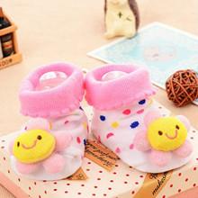 Детские антискользящие носки Цветок оптом (код товара: 43782)