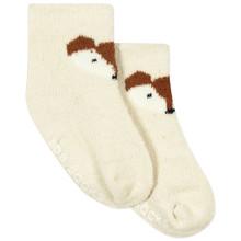 Дитячі антиковзні шкарпетки з начосом Лис оптом (код товара: 43759)