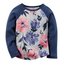 Лонгслив для девочки Цветы оптом (код товара: 43783)