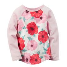 Лонгслив для девочки Цветы оптом (код товара: 43786)