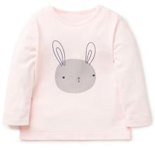 Лонгслив для девочки Кролик, розовый (код товара: 43800)