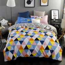 Уценка (дефекты)! Комплект постельного белья Треугольники (полуторный) (код товара: 43899)