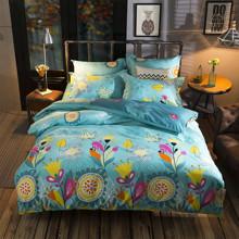 Уценка (зацепка и пятно)! Комплект постельного белья Цветы (полуторный) (код товара: 43893)