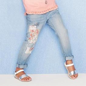 Джинсы для девочки Бабочка оптом (код товара: 43979): купить в Berni