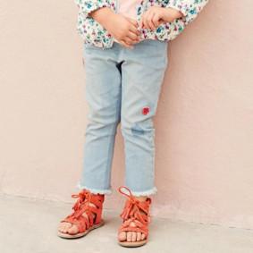 Джинсы для девочки Цветы оптом (код товара: 43978): купить в Berni