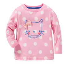 Лонгслив для девочки Кошка оптом (код товара: 43980)