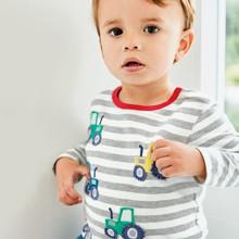 Лонгслив для мальчика Трактор оптом (код товара: 43944)