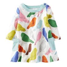 Платье для девочки Птицы оптом (код товара: 43902)