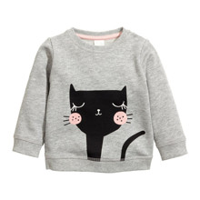 Світшот для дівчинки Чорна кішечка оптом (код товара: 43924)