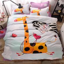 Комплект постельного белья Жираф (полуторный) оптом (код товара: 44027)