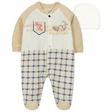 Велюровий чоловічок і шапочка для хлопчика оптом (код товара: 44072)