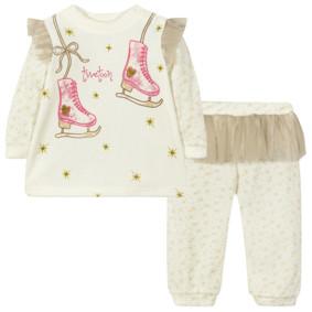 Велюровый костюм 2 в 1 для девочки (код товара: 44098): купить в Berni