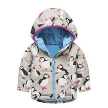 Куртка для девочки демисезонная Пингвин оптом (код товара: 44137)