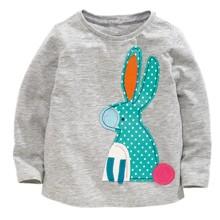 Лонгслив для девочки Кролик оптом (код товара: 44197)