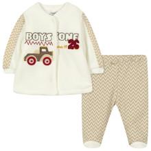 Велюровий костюм на флісі 2 в 1 для хлопчика оптом (код товара: 44112)